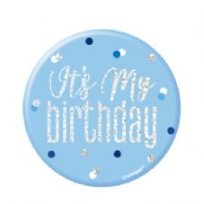Blue Glitz 'It's My Birthday' Badge